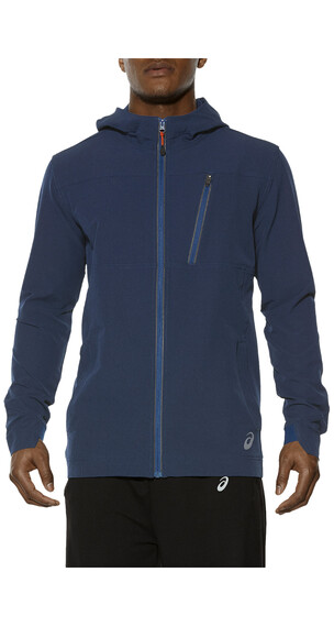 asics Melange Jacket Men Poseidon